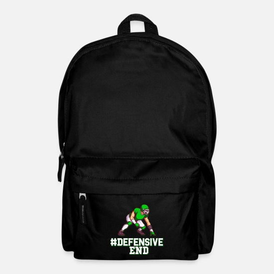American Football Bags & Backpacks - #Defensive end - Backpack black