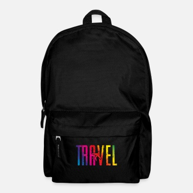 Bug Travel airplane travel colorful - Backpack