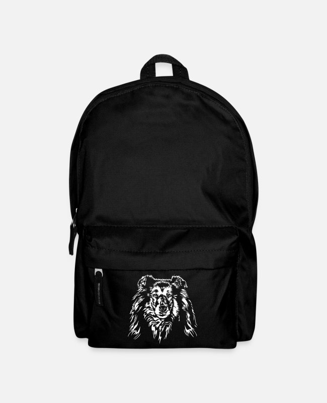 Rough Collie Bags & Backpacks - Longhair COLLIE - ROUGH COLLIE Dogs Wilsigns - Backpack black