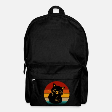 Old retro cat - Backpack