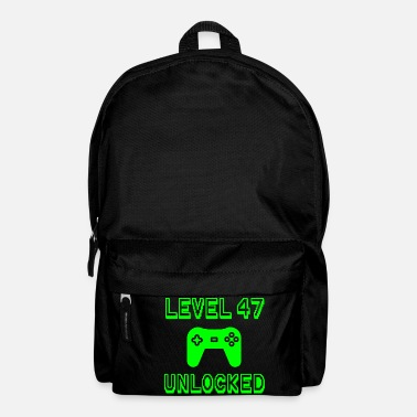 Party Level 47 Unlocked Gamer 47th Birthday Gift Idea - Backpack