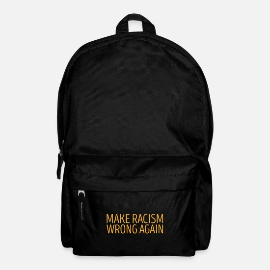 Gift Idea Bags & Backpacks - Make Racism wrong again gift - Backpack black