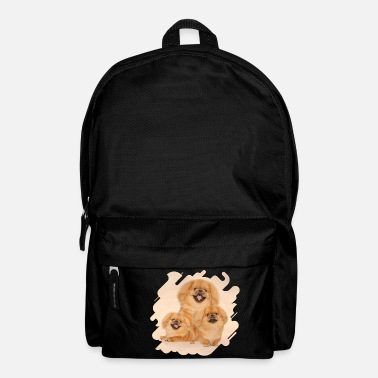 Collage Pekingese dogs collage - Backpack