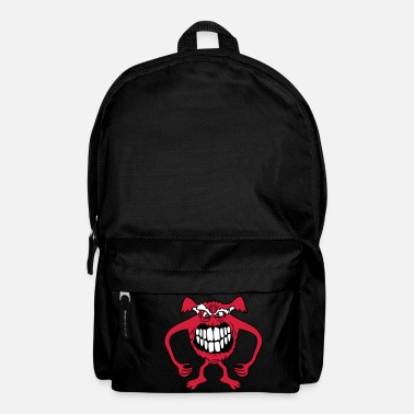 Evil teeth old dangerous gnom naughty little monster ho - Backpack