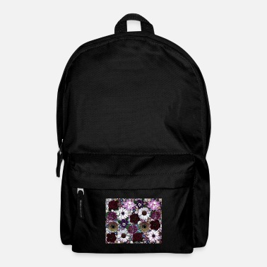 Collage Purple flower collage - Backpack