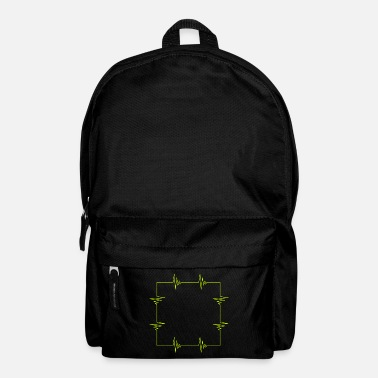 Square Square heartbeat square - Backpack