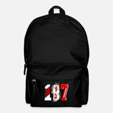 Number Numbers number 187 - Backpack