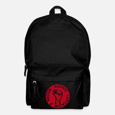 Riqueza 1 color - against capitalism & racism - against capitalism working class war revolution - Mochila