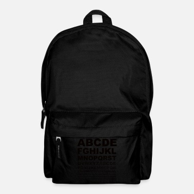 Alphabet alphabet - Backpack