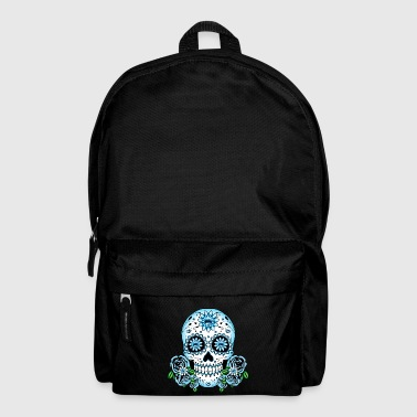 Blue Sugar Skull - Backpack