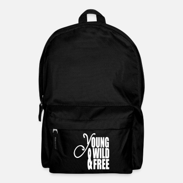I Love Techno Young Wild and Free - Backpack