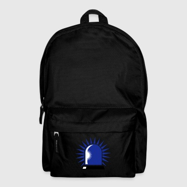 rotating blue beacon light - Backpack