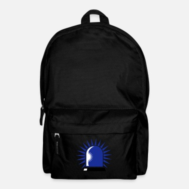Light rotating blue beacon light - Backpack