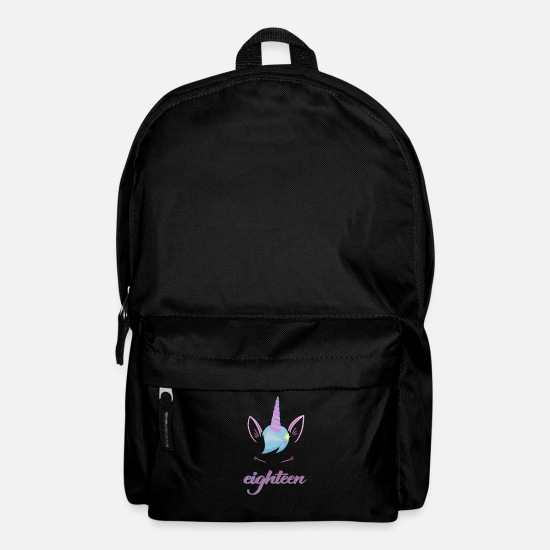 Birthday Bags & Backpacks - Unicorn 18th Birthday Party - Eighteen Years - Backpack black