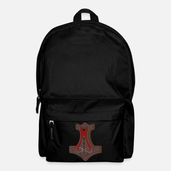 Thor Bags & Backpacks - thor hammer mjolnir celtic shirt viking - Backpack black