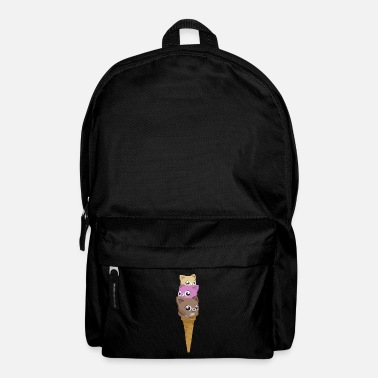 Food Collection Cats ice cream - Backpack