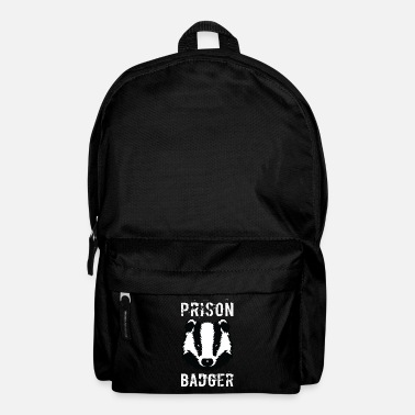 Prison Prison Badger T-Shirt Distressed Prisoner Jail - Backpack