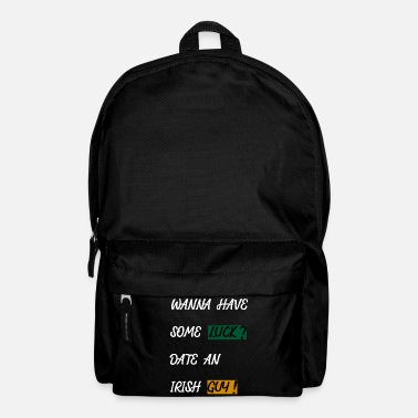 St Patricks Day IRELAND - LUCK - DATING - SINGLE - Backpack