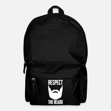 Goatee Respect The Beard T-Shirt Funny Goatee Graphic - Backpack