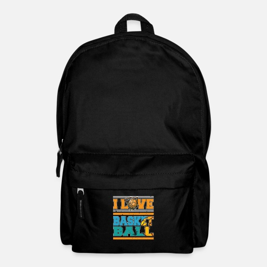I Love Basketball Bags & Backpacks - I Love Basketball Sports Player - Backpack black