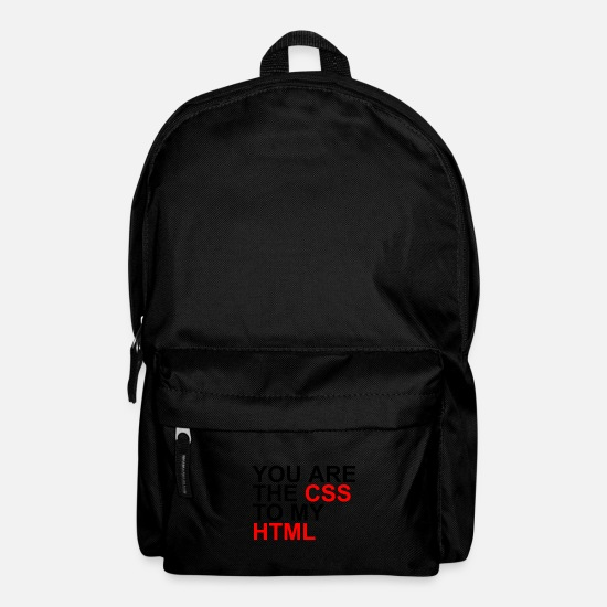 Computer Code Bags & Backpacks - You Are The CSS To My HTML - Backpack black