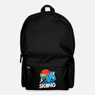 Skies Skiing Skiing Skiing Skiing Skiing - Backpack