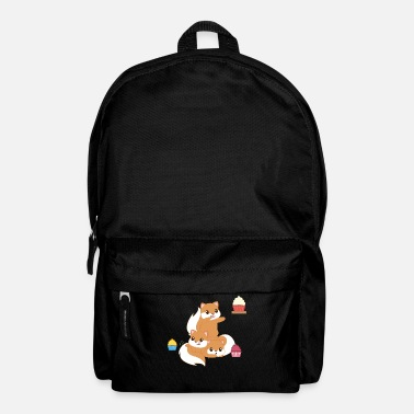 Squirrel Squirrel - croissant - muffin - cupcake - Backpack