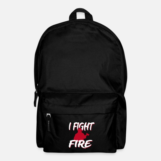 Gift Idea Bags & Backpacks - Firefighter firefighter firefighter woman - Backpack black
