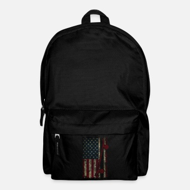 Skateboard Skateboarding America Freedom Gift - Backpack