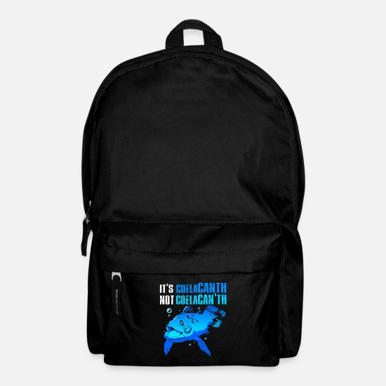 Gift Idea Bags & Backpacks - Coelacanth Extinct fossil fish - Backpack black