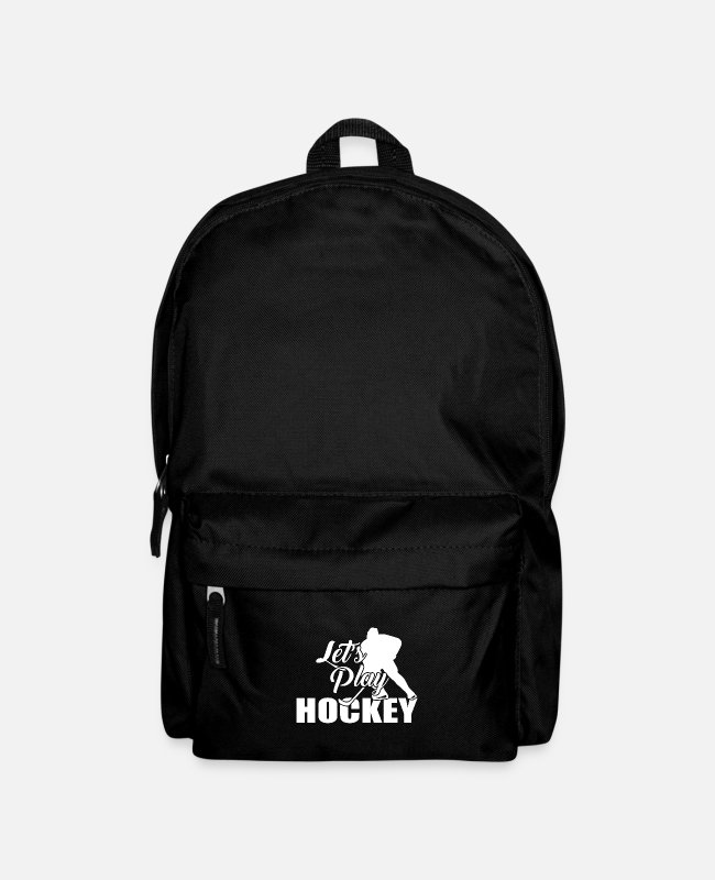 Floor Hockey Bags & Backpacks - Hocky hockey player indoor hockey hockey field hockey - Backpack black