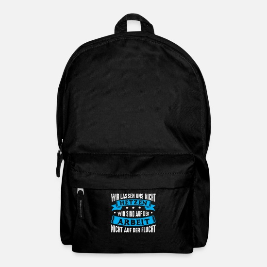 Gift Idea Bags & Backpacks - We do not rush We are on work - Backpack black