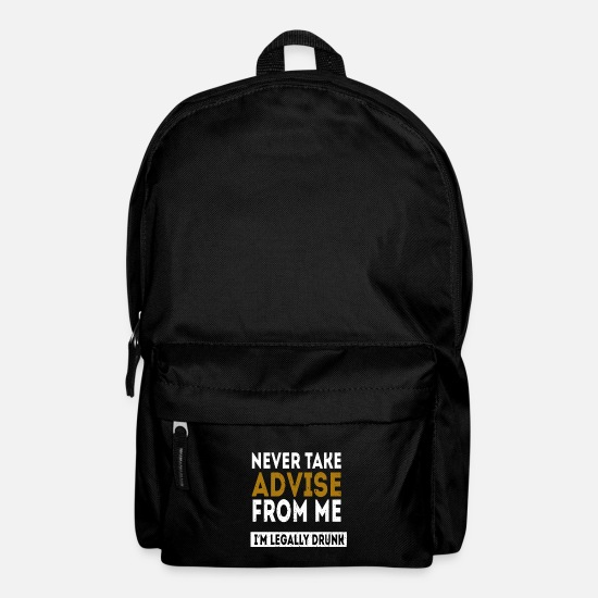 Birthday Bags & Backpacks - Legal drunk adult alcohol gift - Backpack black