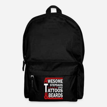 Super stepfather has tattoos and beard - Backpack
