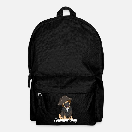 Gift Idea Bags & Backpacks - Columbus Day Dog Design - Backpack black