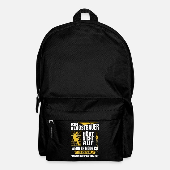 Building Site Bags & Backpacks - Construction worker saying construction site construction - Backpack black