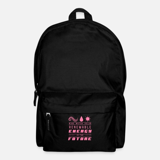 Clean Bags & Backpacks - Wind renewable energies - Backpack black