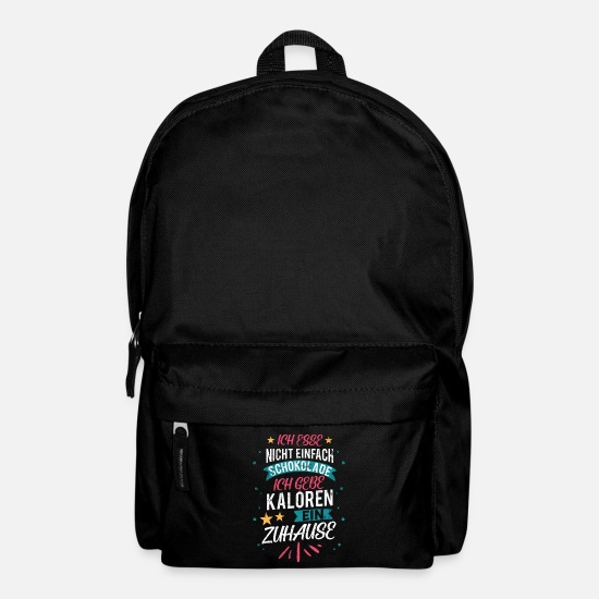 Snack Bags & Backpacks - Chocolate fattening - Backpack black
