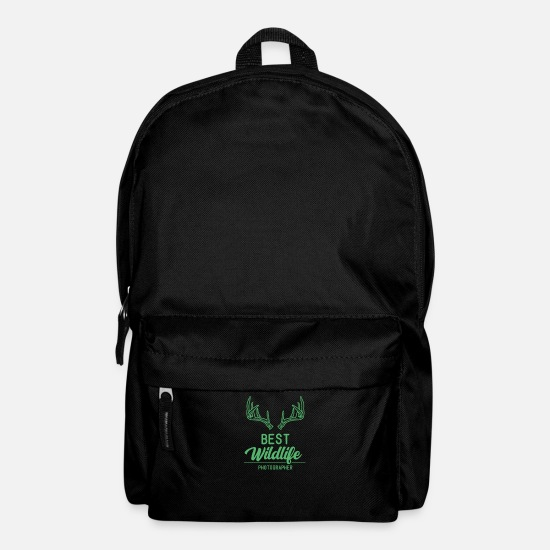 Gift Idea Bags & Backpacks - Nature photographer photographing wilderness - Backpack black