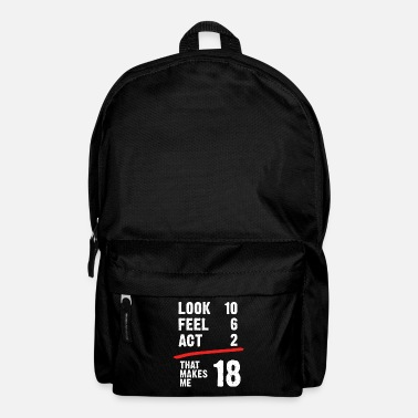 Legal Age 18 years birthday adult legal age gift - Backpack