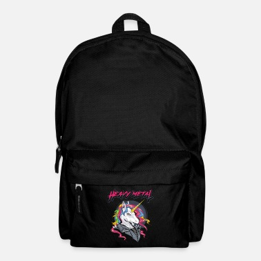 Hard Rock Heavy Metal Unicorn Music Metalcore Rock Gift - Backpack