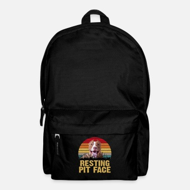 Fitness Resting Pit Face Vintage Pit Bull Dog Lovers Funny - Backpack