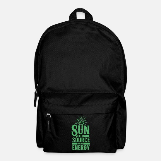 Enviromental Bags & Backpacks - Electricity Solar Energy Solar Energy Solar Solar Power - Backpack black