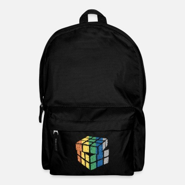 Cube Retro vintage math cube cubes - Backpack