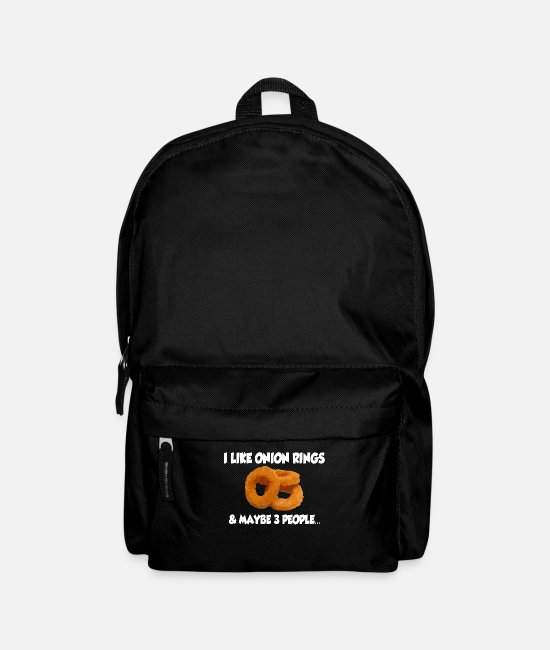 Donalds Bags & Backpacks - Onion Rings Fried Onion Rings Onion Gift - Backpack black