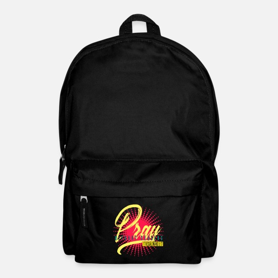 Christianity Bags & Backpacks - Bible Verses Pray Jesus Church Catholic Inspiration - Backpack black