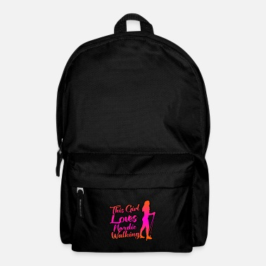 Sports This girl loves Nordic walking - Backpack