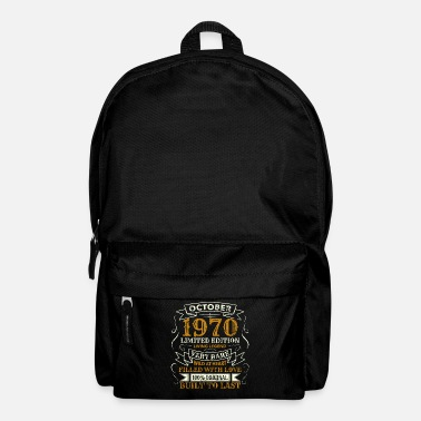 Age-group 50 Years Birthday Vintage Born October 1970 - Backpack