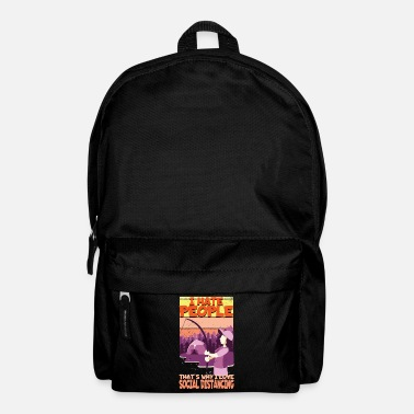 Vote I hate people cause People Suck Sarcasm Funny Gift - Backpack