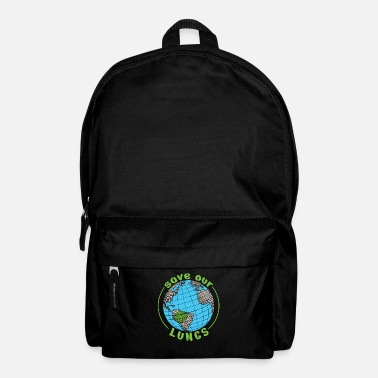 Nuclear Save Our Lung Shirt Environmental Climate Change - Backpack